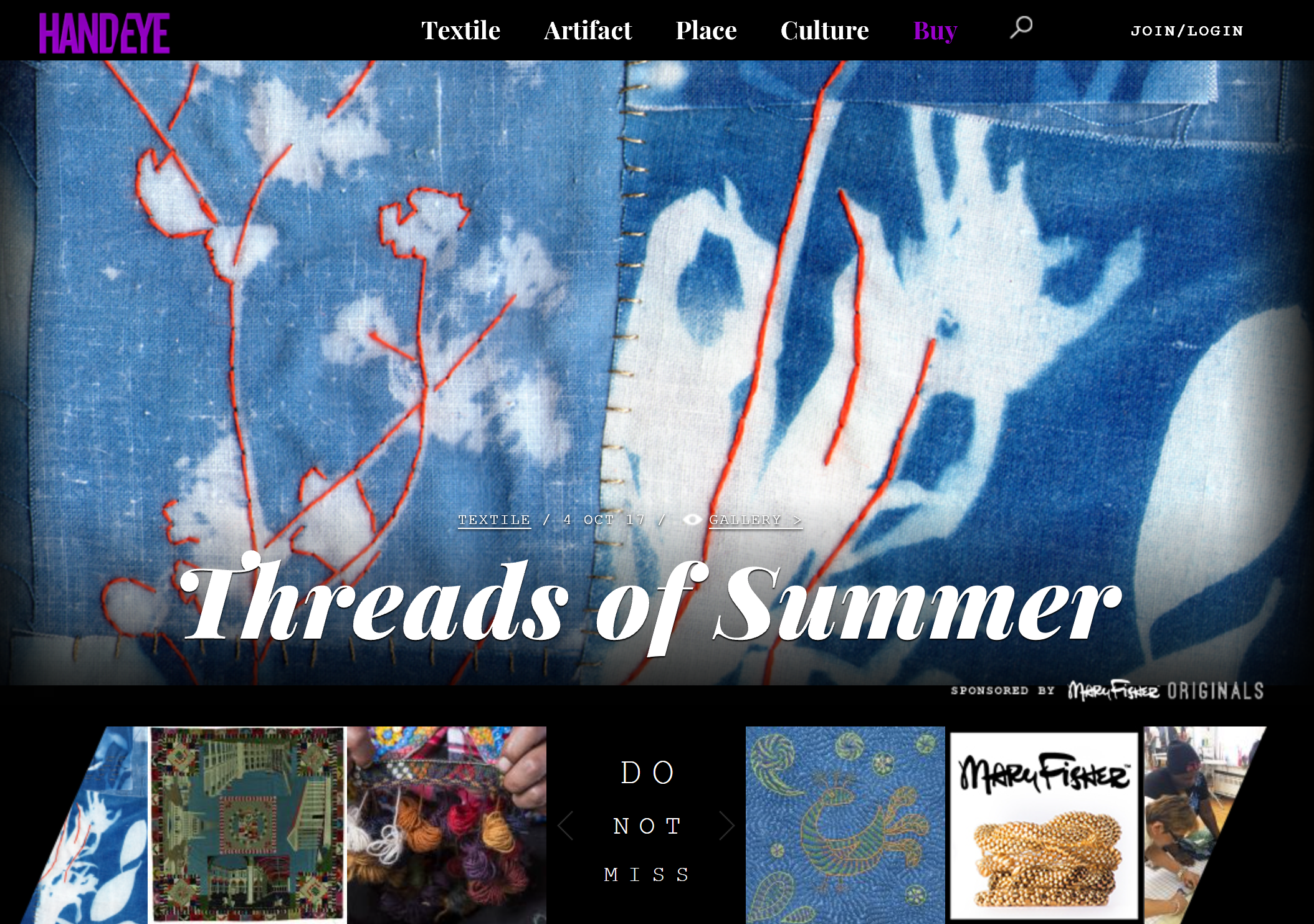 handeye magazine - threads of summer - front page - Oct 2017.png